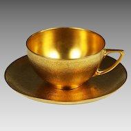 Vintage Rosenthal Bavaria gold encrusted tea Cup Saucer