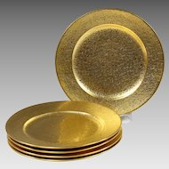 Vintage 5 gold encrusted desert Plates by Rosenthal Bavaria