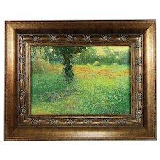 Oil board painting Landscape by established Ukrainian artist Martunuik signed