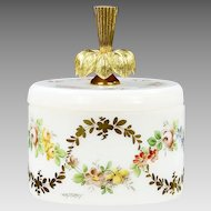 Antique French R.Noirot opaline crystal glass Box