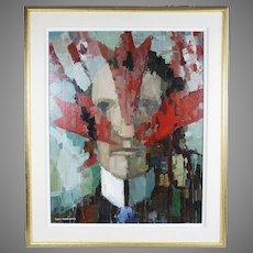 Canadian Tom Roberts 1908-1998 portrait Sir John A.MacDonald acrylic/board painting