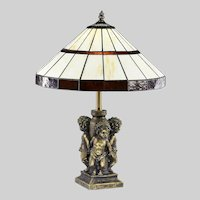 Tiffany Style Table Lamp Stained Glass shade Nightstand Desk Office