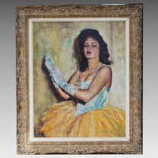 Hungarian American Fried Pal (1893-1976) signed O/Canvas painting Barbara