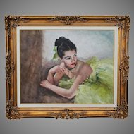 Hungarian American Artist Fried Pal 1893-1976 O/Canvas signed painting Renee