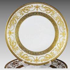 Set 12 Salad Plates Vintage Bohemian Premium porcelain De Luxe gold encrusted