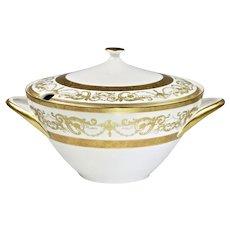 Vintage Tureen Bohemian Premium porcelain De Luxe gold encrusted