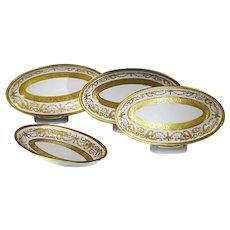 Set of 4 serving platters Bohemian Premium porcelain De Luxe