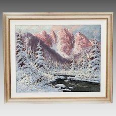 Hungarian Laszlo Neogrady 1896-1962 oil on canvas Landscape painting