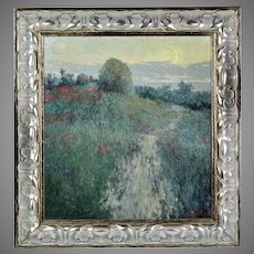 Oil board painting Landscape by established Ukrainian artist Martunuik signed