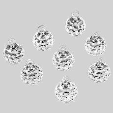 Swarovski crystal #7403 set of 8 place card Holders in original box