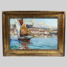French artist Albert Lebourg 1849-1928 signed o/c painting