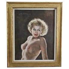 Hungarian American Artist Fried Pal Painting Michella signed o/canvas