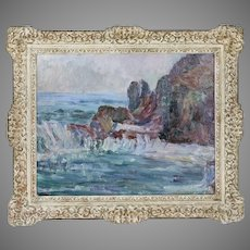 American Canadian Minnie Kallmeyer (1882–1947) OSA Seascape oil canvas painting