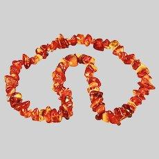 Vintage USSR time natural Baltic amber necklace butterscotch colour