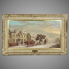 19th Century British o/c Painting - London to Bath - British J.C. Maggs 1819-1896