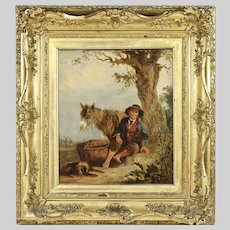 Antique oil on canvas panting by William Shayer Snr 1787-1879
