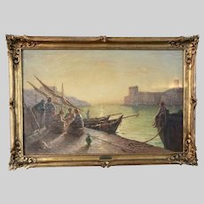 French Etienne Joseph Mein 1865-1938 oil canvas painting