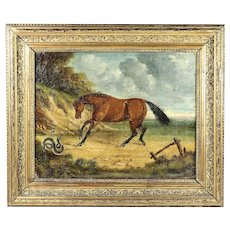 Antique 18th century oil canvas painting George Stubbs old master school