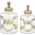 Pair Antique French opaline glass Perfume Bottles signed R.Noirot