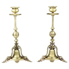 Pair of antique French bronze Candleholders candle stick