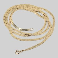 Vintage solid 14K gold Chain necklace 24 inch