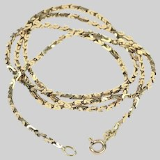 Vintage solid 14K gold Byzantine Chain necklace 19.5 inch made in Italy