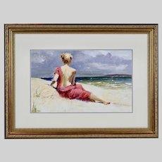Italian-American Pino Daeni 2939-2010 oil on canvas-board painting