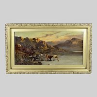 British E.W. de Bearski oil on canvas antique painting