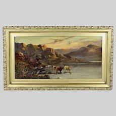 British E.W. de Bearski oil on canvas antique painting