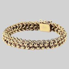 Vintage Bracelet Industria Argentina 750 18K Rose Gold 24.2gr