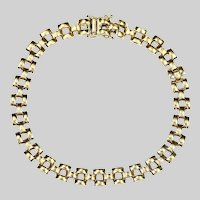 Made in Italy 14K solid gold bracelet link 8 mm wide