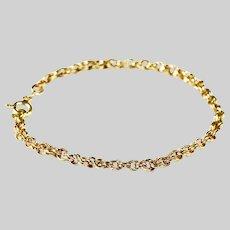 Made in Italy 18K solid gold bracelet Byzantine link length 6.75