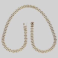 Made in Italy 10K solid yellow gold Necklace 17in long link 8 mm wide