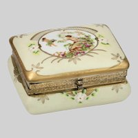 German Porcelain trinket or jewelry Box