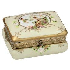 German Porcelain trinket or jewelry Box