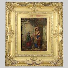 Antique Scottish Erskine Nicol RSA ARA (1825–1904) Toy Seller o/c painting