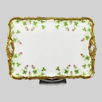 Blackeman & Henderson Limoges French Porcelain trinket vanity tray