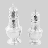 Pair of Birks sterling silver sugar Shakers Sifters Muffineers