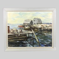Arthur Upelnicks Latvian-American 1911-1994 Vintage Painting