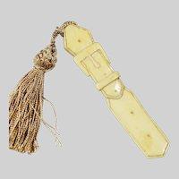 Bovine Bone Bookmark Belt carved with tassel