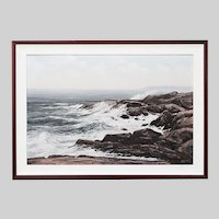 Canadian Ronald Davies (1932-1982) Vintage oil on canvas Seascape painting