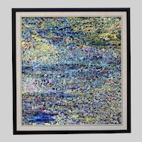 Artist Peter White Vintage acrylic on board abstract painting