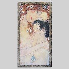 Canadian David Clayton Drum (1944-) Maternity oil on masonite painting signed