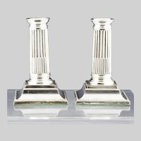 """Exceptional 1930' Birmingham sterling silver 5"""" column Candle sticks"""