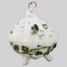 Antique French opaline glass Box Verrerie Schmid SV Vannes-le-Chatel
