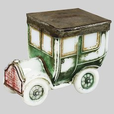 Collectible Antique French Portieux Opaline glass Car Box