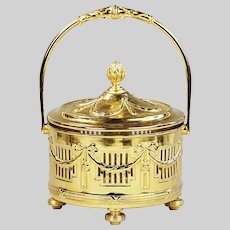 Antique French gild on Continental silver Sugar Bowl