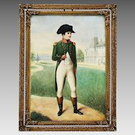 Antique miniature painting Napoleon I by Jean Baptiste Isabey (1767-1855) signed