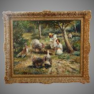 Vintage to Antique oil on canvas painting signed G.Bothe ?