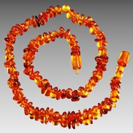 Vintage Baltic natural amber necklace Cognac Butterscotch color
